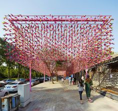 SPARK architects' jianzi pavilion for beijing design week