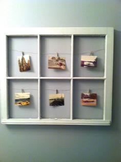Old Window Repurposed Frame. $30.00, via Etsy.