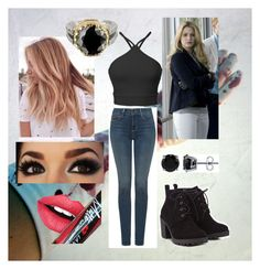 """""""Rose caçada"""" by larissa1012 on Polyvore featuring NYDJ, Red Herring, Fiebiger, BERRICLE and Tryò"""