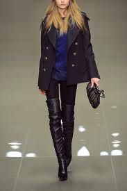 Thigh High Boots w/ leggings, tunic, & short coat ~ Blue & Black