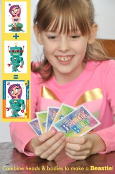 Combine heads and bodies to make a BEASTIE! Great game for imaginative kids!