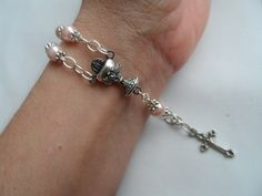 First Communtion Rosary Bracelet by MeredithLMurphy on Etsy, $10.00