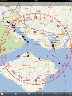 Boat Beacon compass AIS view