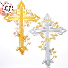 Cheap 2015 nuevo Envío Libre grande Cristianismo cruz parches pegar Tela Parche…
