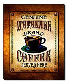 Watanabe Brand Coffee Gallery Wrapped Canvas Print ZuWEE…