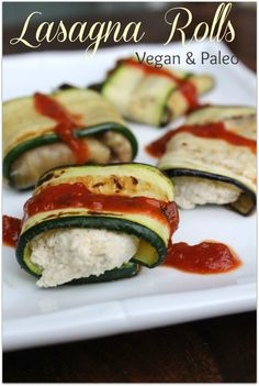 Lasagna Rolls (Vegan & Paleo) - Healy Real Food Vegetarian - simple cashew cheese to replace ricotta