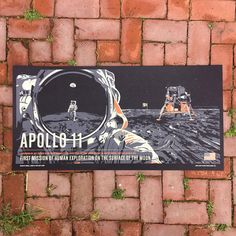 Apollo 11 from the Giant Leaps in Space Print Series – chopshopstore Michael Collins, Buzz Aldrin, Epson Ink, Poster Series, Apollo 11, First Humans, Library Displays, Space Exploration, Another World
