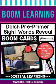 THIS IS AN INTERACTIVE DIGITAL RESOURCE. Download the preview to play a shortened version of the Boom Deck – this will help you decide if the resource is suitable for your students. ABOUT THIS BOOM DECK: This school-themed, 40 card deck, will help young learners practice and review Dolch Pre-Primer Sight Words in a fun and engaging way!  Autoplay audio is included, therefore students can listen to the instructions. They should then drag the 'MAGIC LENS' over the secret word to reveal it.