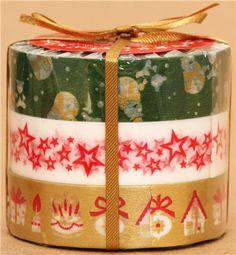 Christmas Washi Masking Tape deco tape set 3pcs green