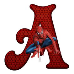 Whisper of Love: Alphabet Spiderman PNG Spiderman Theme Party, Spiderman Birthday Invitations, Superhero Birthday Party, Spiderman Images, Black Spiderman, Spiderman Art, Spiderman Cake Topper, Superhero Letters, Minnie Png