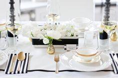 Ein Atemberaubendes Style Shooting Für Eine Hochzeit In Schwarz, Weiß Und Gold | Friedatheres.com