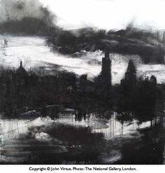 John Virtue/The Exhibition/'Landscape No. Contemporary Landscape, Urban Landscape, Abstract Landscape, Landscape Architecture, Landscape Drawings, Landscape Paintings, London Painting, A Level Art, Sense Of Place