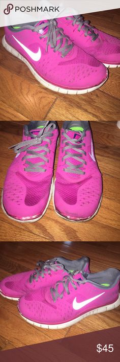 Nike Free Runs Size 9 Great used condition. Signs of wear to bottom portion. Otherwise excellent condition. Size 9 Nike Shoes Sneakers