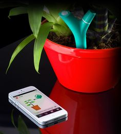 Parrot Flower Power Plant Sensor - When your plant needs water, it will post to let you know, and send its thanks when you show it love. Tech Gadgets, Cool Gadgets, Flower Power, Jawbone Up, Bluetooth, Cool Tech Gifts, Plant Needs, Organic Farming, Cool Plants