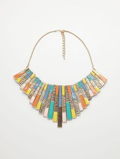 Necklace with colourful pendants