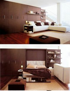 Resource Furniture offers quality transforming furniture to make your home functional. Compact wall beds, tables, and more. Furniture, Small Apartment Decorating, Multipurpose Furniture, Home, Furniture For Small Spaces, Multifunctional Furniture Design, Resource Furniture, Convertible Furniture, Interior Design