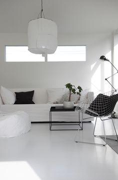 White // Black // Koushi Light// White Floors // Clean by elisabeth heier