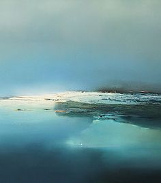 Paintings at the arctic, ice and tundra Blue Painting, Abstract Landscape Painting, Oil Painting On Canvas, Painting Frames, Landscape Paintings, Abstract Art, Abstract Watercolor, Ocean Canvas, Sea Art