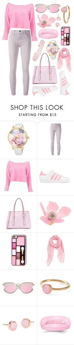 """Untitled #54"" by lindseybe ❤ liked on Polyvore featuring Ted Baker, Current/Elliott, Boohoo, adidas Originals, Marc Jacobs, Lele Sadoughi, Fendi, Pernille Corydon and Humble Chic"