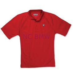 181f1535 BMW Genuine Performance Polo Antimicrobial Moist Control Shirt Men Red M  Medium #control #shirt