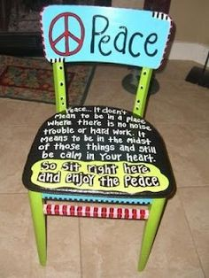 A Mermaid's Diary: Another Peace Chair....