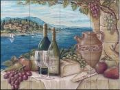 Bella Vista by Rita Broughton Kitchen Backsplash Bathroom wall Tile Mural -- Check this awesome product by going to the link at the image. Kitchen Mosaic, Kitchen Backsplash, Backsplash Ideas, Tile Ideas, Tile Murals, Tile Art, Wall Tile, Bathroom Wall, Pool Mosaic Tiles