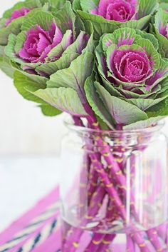 A Bunch for the Weekend-# 59-Ornamental Cabbage-Ingrid Henningsson-Of Spring and Summer