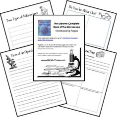 Microscope Notebooking Pages page Free Microscope Study Notebooking Pages 5th Grade Science, Science Curriculum, Science Resources, Elementary Science, Teaching Science, Science Education, Science For Kids, Science Activities, Science Experiments