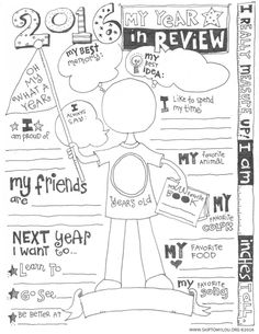 Free 2016 Year In Review Printable is the perfect way to record your child's year. It is fun to learn what they think about their year! MichaelsMakers Skip to my Lou