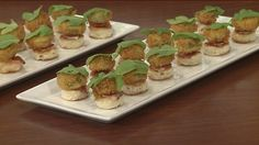Fried green cherry tomato appetizer