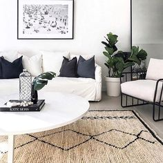 46 Best Carpet Flooring Ideas - Page 24 of 46 - LoveIn Home Rugs In Living Room, Home And Living, Living Room Designs, Living Room Decor, Burlap Rug, Jute Rug, Carpet Flooring, Rugs On Carpet, Tribal Decor