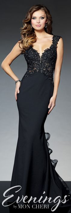 Evenings by Mon Cheri Fall 2015 - Style No. Black Tie Wedding Guests, Black Tie Wedding Guest Dress, Trendy Dresses, Elegant Dresses, Nice Dresses, Wedding Party Dresses, Bridesmaid Dresses, Glamour, Groom Outfit