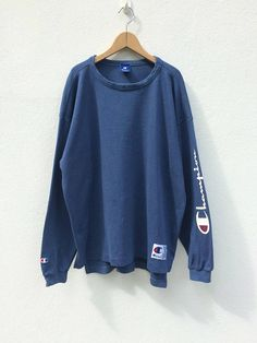 Vintage Champion Sweatshirt /Pull Over / Champion T Shirt / Hoodie Sweatshirts, Pullover Hoodie, Hoodies, Casual Outfits, Cute Outfits, Fashion Outfits, Champion Clothing, Champion Brand, Champion Sweatshirt