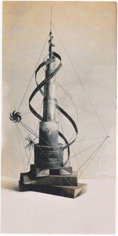 Materiestudie Spiralturm aus dem Vorkurs von Johannes Itten, um 1921