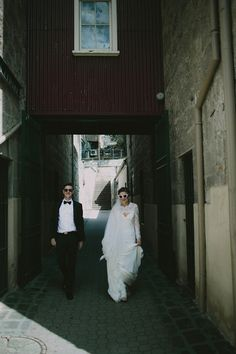 BRIDGET + STUART // #elegant #romantic #tasmania #bride #groom #wedding #ceremony #reception #realwedding #dress #gown #lace #veil #sleeves #flowers