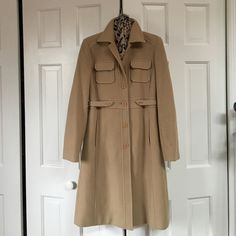 Kenneth Cole Reaction wool coat Camel colored. Excellent condition. 80% wool. Kenneth Cole Reaction Jackets & Coats Trench Coats