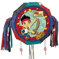 Jake and the Never Land Pirates Pull-String Pinatas (Each) | $21.37 | http://www.discountpartysupplies.com/boy-party-supplies/jake-and-the-neverland-pirates-party-supplies/jake-and-the-never-land-pirates-pull-string-pinatas.html