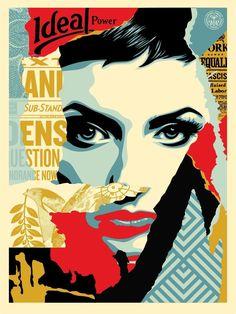 From MSP Modern, Shepard Fairey, Obey Ideal Power Silkscreen print, 24 × 18 in Shepard Fairey Art, Lorenzo Lamas, Toned Paper, Poster Prints, Art Prints, Illustration, Arte Popular, Gcse Art, Street Artists