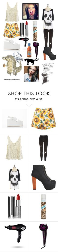 """Grav3yardgirl"" by shaebutter ❤ liked on Polyvore featuring Jeffrey Campbell, River Island, Givenchy, Batiste, ego Professional, Conair and WALL"