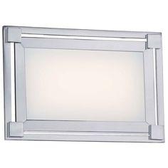 "George Kovacs Framed 9 1/4"" Wide LED Chrome Wall Sconce - Style # 5K179"