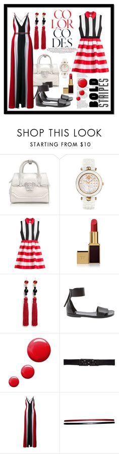 """""""Bold stripes"""" by tiana212 ❤ liked on Polyvore featuring Versace, Zuhair Murad, Tom Ford, Kenneth Jay Lane, Pierre Hardy, Topshop, 3.1 Phillip Lim, Gabriela Hearst and Hermès"""
