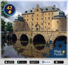 I've just solved this puzzle in the Magic Jigsaw Puzzles app for iPad. Kingdom Of Sweden, Brain Teaser Puzzles, Image Storage, Life Is A Journey, Nature Scenes, Beautiful Buildings, Tower Bridge, Stockholm, Barcelona Cathedral