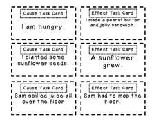 Cause and Effect Pack (graphic organizers, activities, and