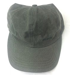 e72f707f5 C.C. FILSON CO. 6 Panel Green Logo Strap Back Adjustable Fishing Outdoor Hat  Cap #