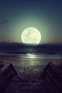 Bright moon sky night beach ocean water outdoors nature clouds moon glow dance with me Moon Moon, Full Moon, Moon Rise, Big Moon, Beautiful Moon, Beautiful Places, Beautiful Pictures, Simply Beautiful, Beautiful Scenery