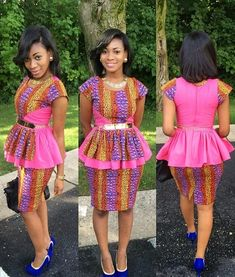 I love the peplum top.  Beautiful Ankara Skirt and Blouse Style ~Latest African Fashion, African Prints, African fashion styles, African clothing, Nigerian style, Ghanaian fashion, African women dresses, African Bags, African shoes, Kitenge, Gele, Nigerian fashion, Ankara, Aso okè, Kenté, brocade. ~DK
