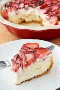 Strawberry Cream Pie Perfect for Summer time!