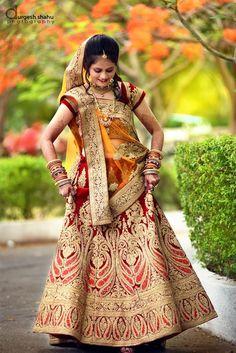 Elegant attire of the bride! Photo by Durgesh Shahu, Nagpur  #weddingnet #wedding #india #indian #indianwedding #weddingdresses #mehendi #ceremony #realwedding #lehengacholi #choli #lehengaweddin#weddingsaree #indianweddingoutfits #outfits #backdrops #groom #wear #groomwear #sherwani #groomsmen #bridesmaids #prewedding #photoshoot #photoset #details #sweet #cute #gorgeous #fabulous #jewels #rings #lehnga