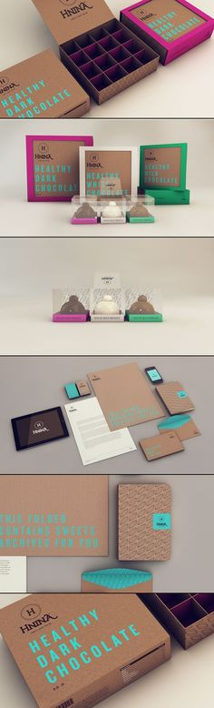 Branding and Packaging by Isabela Rodrigues for HNINA – Healthy Chocolates