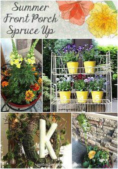 Summer Front Porch Spruce Up | Yesterday On Tuesday